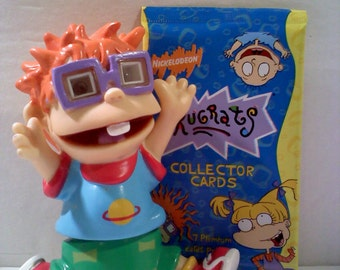 Rugrats CHUCKIE Light Up Mini Buddy and 1 Pack of Rugrats Cards