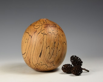 Spalted beech hollow form, wood, woodturning, gift