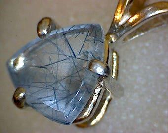 Stunning Indicolite in Quartz Pendant