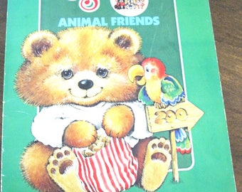 1980s Critter Sitters Animal Friends Coloring Book