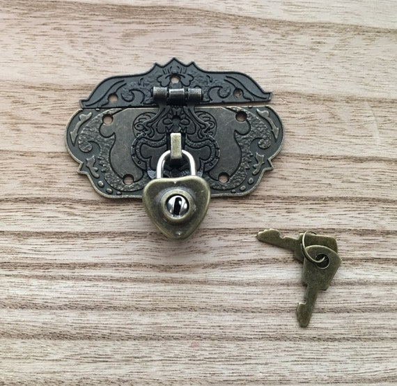 Padlock With Keys Mini Heart Lock Jewelry Box Lock