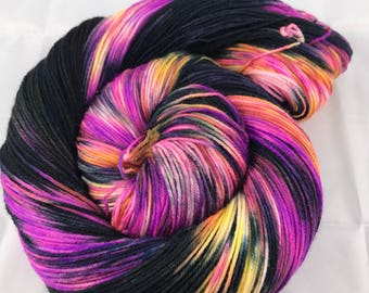 Jimmy Sock, Hand Dyed Yarn. Sock Yarn, HauteKnitYarn, Superwash Merino, Nylon, Fingering weight, Hand Dyed, Simple Sock, Another Galaxy
