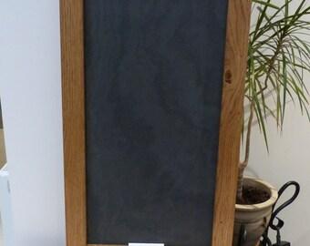 Oak framed slate board - chalk board