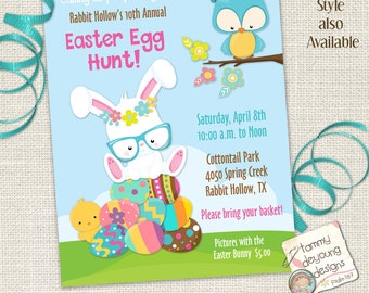 Easter Egg Hunt Invitation, Easter Flyer, Easter Party for Kids, Printable Easter Invite, Spring Party flyer, Breakfast with Easter Bunny