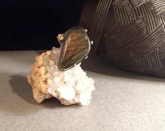 Labradorite & Citrine Ring