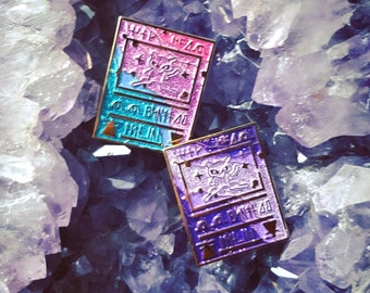 SET OF 2 - Ancient Mew Pokémon card enamel lapel pin