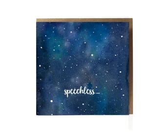 Speechless Card / Condolences Card /  Mourning Card / Thinking of you Card / Sympathy Card / Grieving Card / Break Up Card / Sad Card /