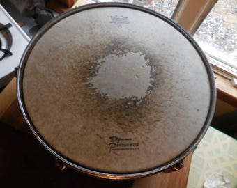 Vintage Chrome 1950s to 1970s Remo Snare Drum Musical Instrument Ambassador USA Made For Repurpose/Reuse/Recycle Metal Shiny Not Perfect