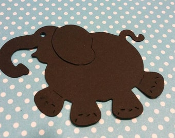 Elephant Die Cut 20 CT- Die Cut- Cutout- Custom Colors Available