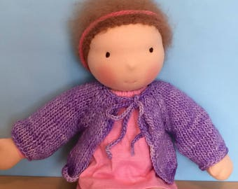 Waldorf Doll Knit Sweater for 15/16 Inch Waldorf Doll  **Periwinkle**
