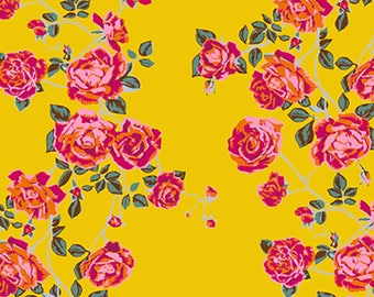 ON SALE***PREORDER Floral Retrospective Anna Maria Horner Gold Social Climber