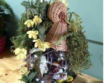 Fairy House - Fairy Grandmother's Basket Cottage