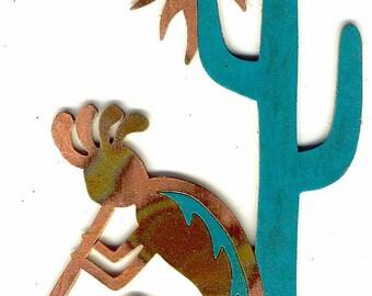 """CopperCutts Siesta Kokopelli 6"""" x 10"""" Wall Plaque"""