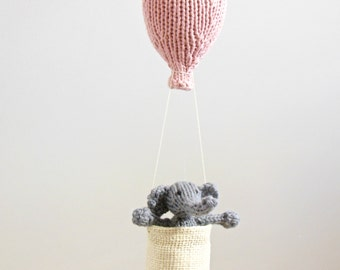 Baby Mobile, Elephant Mobile, Hot Air Balloon Mobile, Elephant Nursery, Traveler Nursery, Balloon Crib Mobile, Baby Mobiles, Gender Neutral