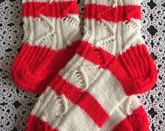 Hand knitted socks for women.Home socks.