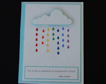 Try to Be a Rainbow Quotable Card
