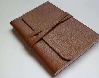 Journal Notebook Leather Journal Leather Notebook Travel Journal Leather Book. Tan Grained Leather.