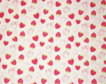 Strawberry Fabric, By The Yard Fabric, Quilting Fabric, Camelot Fabrics, Scented Collection, Sewing Fabric, Quiltying Fabric, Summer Fabric