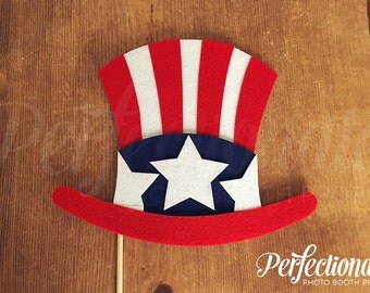 Patriotic Photo Booth Prop | Uncle Sam Hat | Fourth of July Props | Patriotic Props