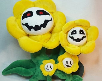 MADE To Order!!! Flowey the Flower inspired Soft Plush// Undertale
