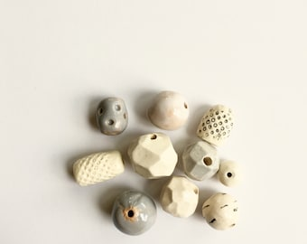 Greys + Whites bead assortment