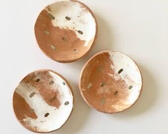 SILVER RAINDROPS mini dishes set of three