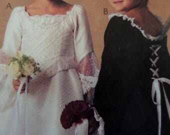 JR BRIDE DRESS Pattern • McCall's 3453 • Girls 6-8 • Flowergirl Dress • Bride Costume • Sewing Patterns • Bridal Patterns • WhiletheCatNaps