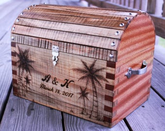 Keepsake Card Chest. Personalized for Weddings