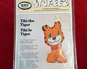 So-Rite Stuf-eez Tiki the Tiger plush toy kit