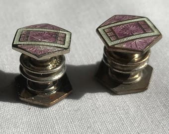 Vintage Mosain Snap Cuff Links
