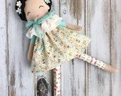 Lola ~ SpunCandy Doll, Handmade Doll, Rag Doll, Nursery Decor, Kids Decor, Fabric Doll, Cloth Doll, Little Wanderer