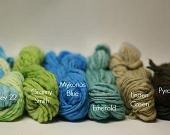 Thick and Thin Merino Yarn Slub Hand Dyed tts(tm) 44