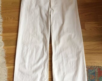 Vintage High Waisted Wide Leg Sailor Pants
