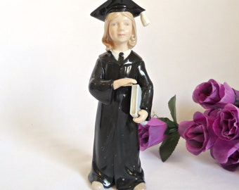 Graduation Woman Girl Female Figurine Porcelain Cosmos