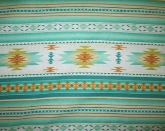 Navajo Mint Green Traditional Border Cotton Fabric Fat Quarter Or Custom Listing