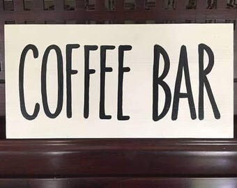 COFFEE BAR StationBarista Tablescape Decor Sign Plaque Compliments your Rae Dunn Coffee Cup Collection You Pick Color