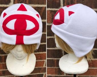 Sheik or Sheikah Eye Symbol Zelda Hat, Breath of the Wild - Fleece Hat Adult, Teen, Kid - A winter, nerdy, geekery gift!