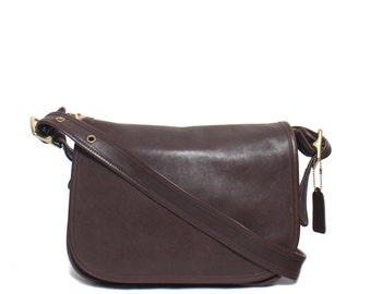 Vintage COACH 9951 Patricia's Legacy in Dark Brown Leather