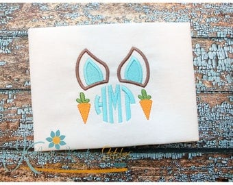 Bunny Ear Monogram Applique