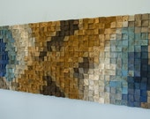 Reclaimed Wood wall Art, sound diffuser, wood mosaic, geometric art, wood wall art,