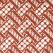 Retro Wallpaper by the Yard 70s Vintage Wallpaper - 1970s Vinyl Rust and White Geometric