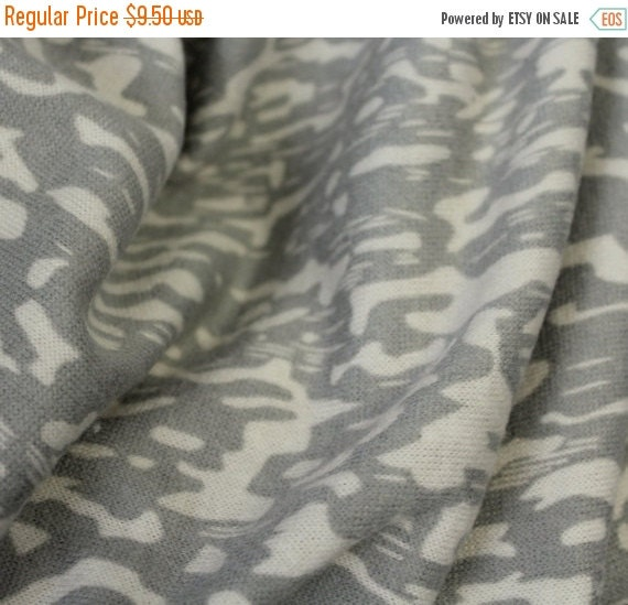 Camo Sweater knit fabric,Soft sweater fabric,Lightweight sweater fabric,Apparel fabric,Light gray and Ecru fabric,Army,Fabric by the YARD