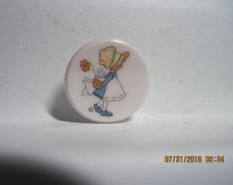 Vintage 1970's 'HOLLY HOBBIE' Button...#499