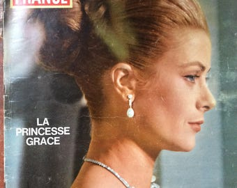 Rare French magazine Jours de France 1965 edition of Grace Kelly/ Princess Grace of Monaco
