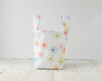 Floral Fabric Bucket - Storage Caddy - New Baby Gift - Storage Basket - Toy Storage Solutions - Nursery Decor