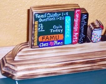 Teacher Gift  Nameplate with Chalkboard