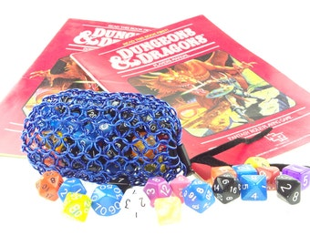 Dungeons And Dragons Blue Chainmaille Dice Bag - Warhammer 40K -  Large Pouch