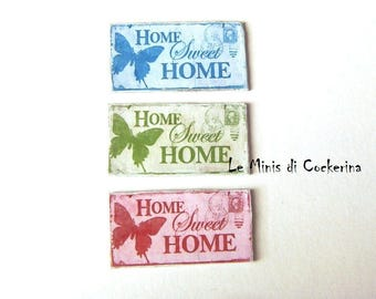 "Miniature Sign ""home sweet home"" - miniature 1:12 scale for dollhouses"