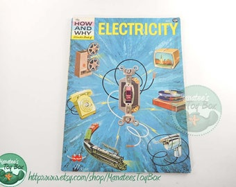 Vintage 70s Science Book: Electricity The How and Why Wonder Book