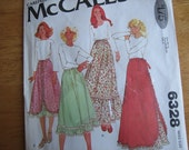 McCALL'S Pattern 6328 Misses' Set of Skirts      1978      Uncut